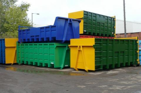 20 Skip Rope Hooks-waste Container-open-enclosed-FEL-REL-steel-metal-skips